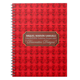 Red Roses Art Decor Nature Modern Notebook