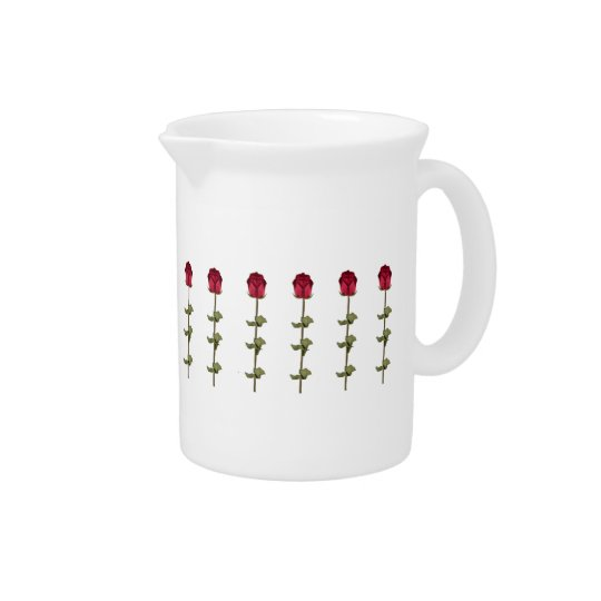Red Roses Beverage Pitchers