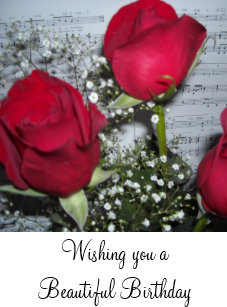 Red Roses Birthday Wishes Card