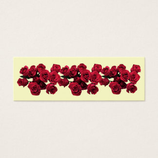 Red Roses Bookmark Mini Business Card
