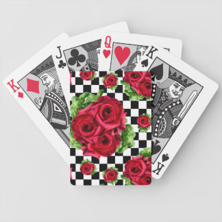 Red Roses Bouquet Floral Love Rockabilly Bicycle Playing Cards