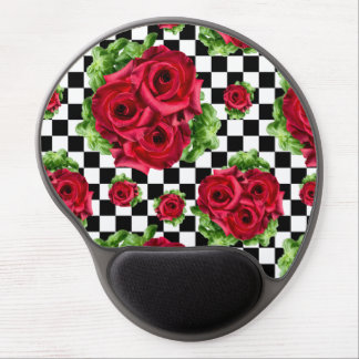Red Roses Bouquet Floral Love Rockabilly Gel Mouse Pad