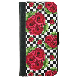 Red Roses Bouquet Floral Love Rockabilly iPhone 6 Wallet Case