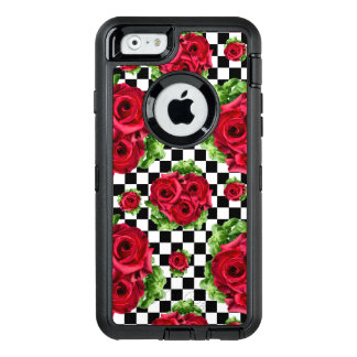 Red Roses Bouquet Floral Love Rockabilly OtterBox Defender iPhone Case