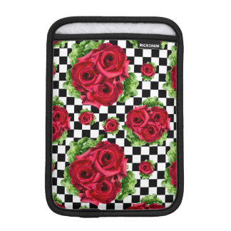 Red Roses Bouquet Floral Love Rockabilly Sleeve For iPad Mini