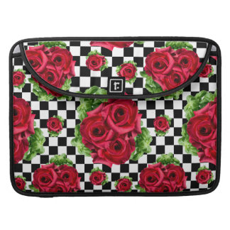 Red Roses Bouquet Floral Love Rockabilly Sleeves For MacBooks