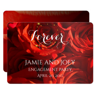 Red Roses bouquet forever invitation