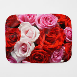 Red Roses Burp Cloth