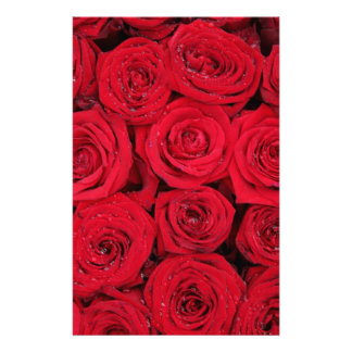 Red roses by Therosegarden Stationery