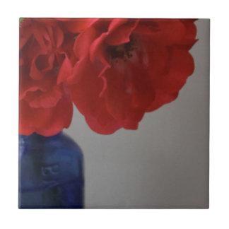 red roses ceramic tile