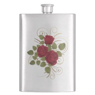 Red Roses Classic Flask