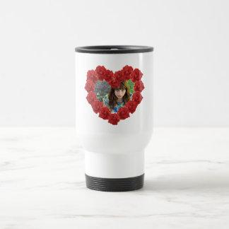 Red roses custom photo Travel/Commuter Mug