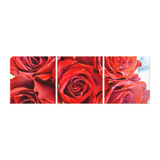 Red Roses Diptych Canvas