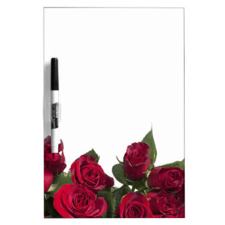 Red roses dry erase whiteboards