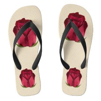 Red Roses Flip Flops