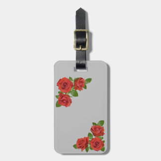Red Roses Floral Design Luggage Tag