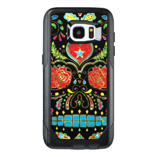 Red Roses & Flowers Sugar Skull G2 OtterBox Samsung Galaxy S7 Edge Case
