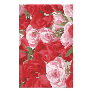 Red Roses for Thalia Stationery