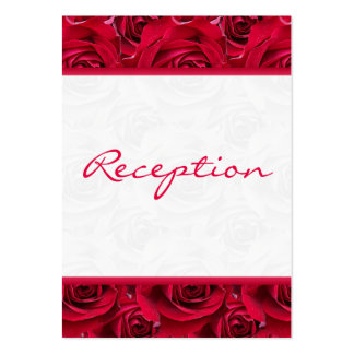 Red Roses Galore Enclosure Card Pack Of Chubby Business Cards