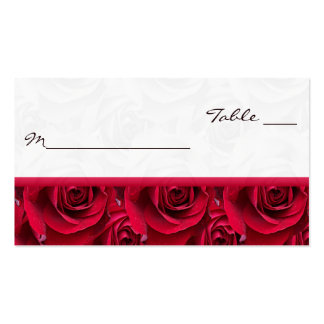 Red Roses Galore Placecards Business Card