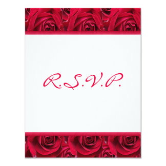 """Red Roses Galore Reply Card-WILL NOT FIT SQUARE 4.25"""" X 5.5"""" Invitation Card"""