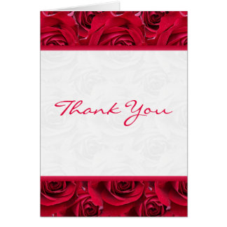 Red Roses Galore Thank You Card