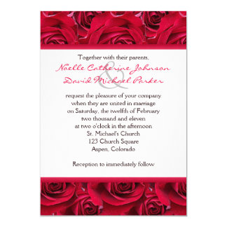 Red Roses Galore Wedding Invitation