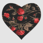 Red Roses Gothic Heart Sticker