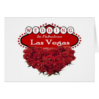 Red Roses Heart Shape Wedding In Las Vegas  Card
