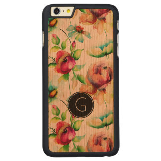 Red Roses Illustration Carved Cherry iPhone 6 Plus Case