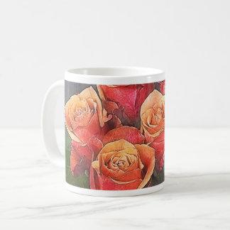 Red Roses Illustration Coffee Mug