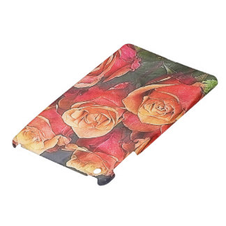 Red Roses Illustration Cover For The iPad Mini