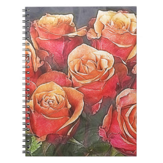 Red Roses Illustration Notebook