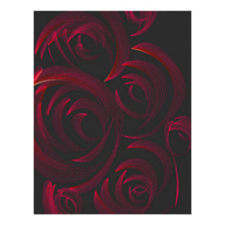 Red Roses in the Dark Personalized Letterhead