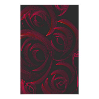 Red Roses in the Dark Stationery Design
