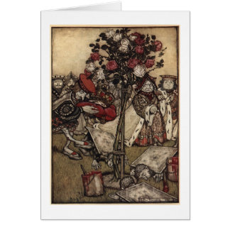 Red Roses in Wonderland (Blank Inside) Card