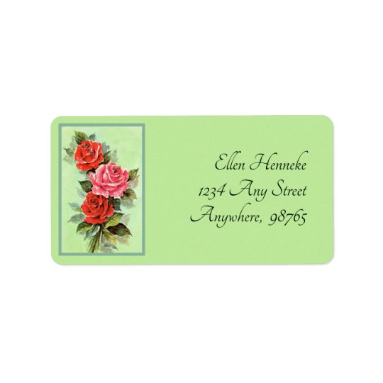Red Roses Label