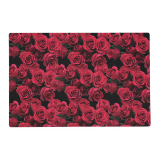 Red Roses Laminated Placemat