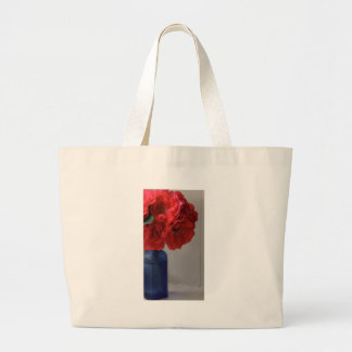 red roses large tote bag