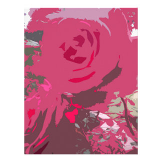 Red Roses Letterhead Template