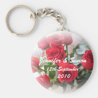 Red Roses Marriage Memento Keychain