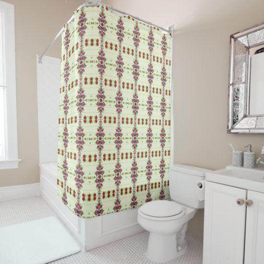 Red Roses on the Wall shower curtain