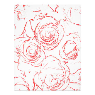 Red Roses Outlines Letterhead