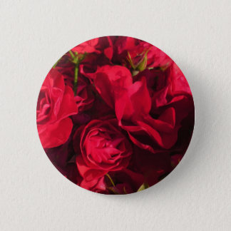 Red Roses Painting 2 Inch Round Button