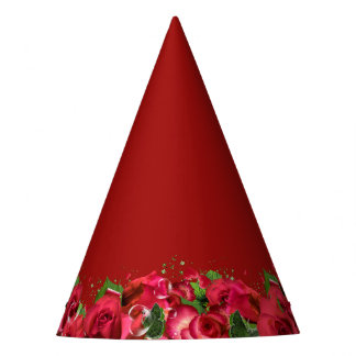 Red Roses Party Hat