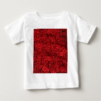 Red Roses Pattern Baby T-Shirt