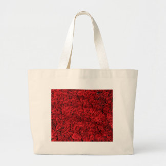 Red Roses Pattern Large Tote Bag