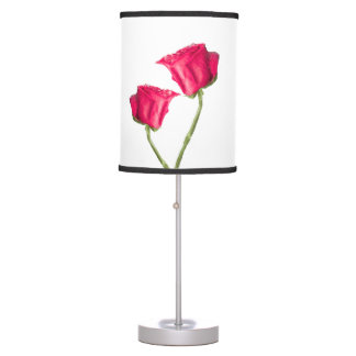 Red Roses Photo Table Lamp
