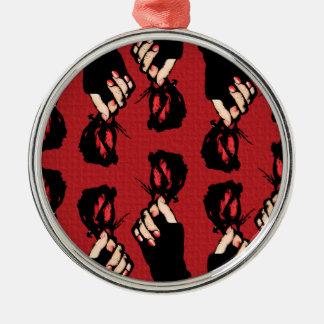 Red Roses Premium Round Ornament