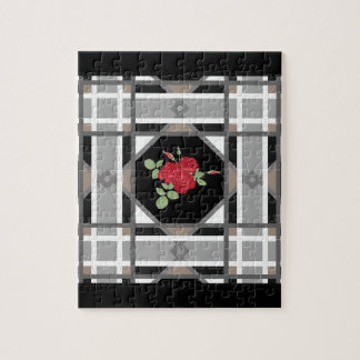 Red roses , retro jigsaw puzzle